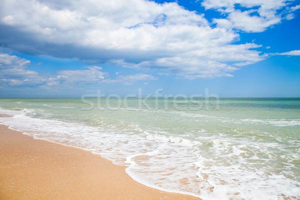 sand beach of Adriatic Sea, Italy Stock photo © marylooo