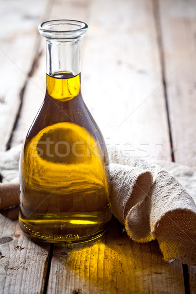 Stock photo: fresh olive oil in bottle