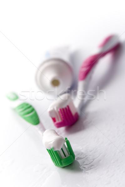 Dentifricio primo piano cura dei denti bellezza medicina bagno Foto d'archivio © marylooo