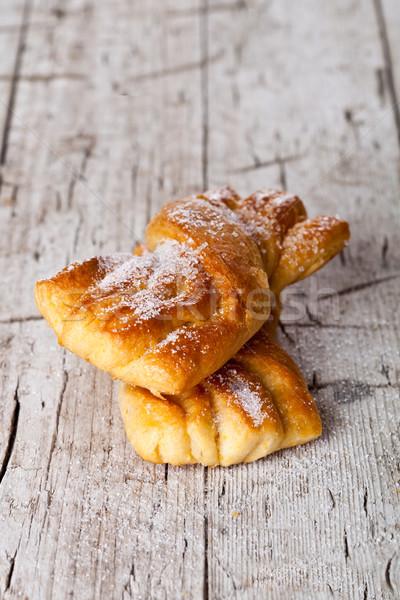 two fresh baked sugar buns  Stock photo © marylooo