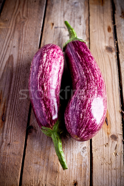 two fresh eggplants  Stock photo © marylooo