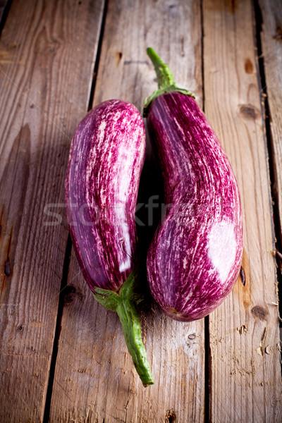 two fresh eggplants  Stock photo © marylooo