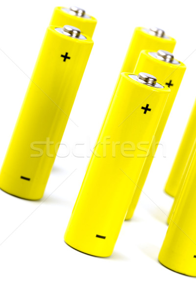 yellow alkaline batteri Stock photo © marylooo