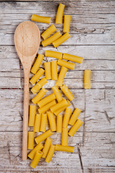 Ruw macaroni houten hout koken Stockfoto © marylooo