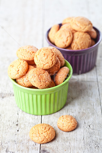 Mandorla cookies legno dolce zucchero Foto d'archivio © marylooo