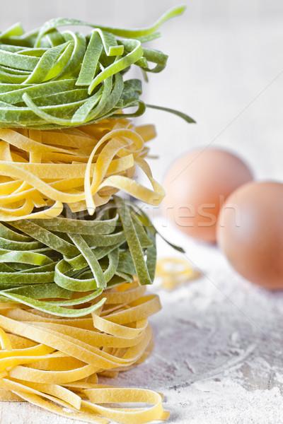 Italiaans pasta tagliatelle meel eieren Stockfoto © marylooo