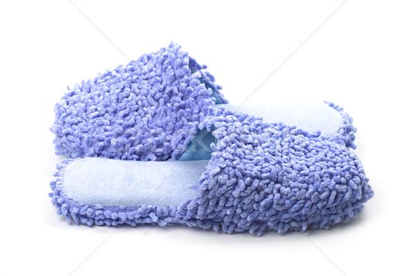 Bleu isolé blanche dormir bain Photo stock © marylooo