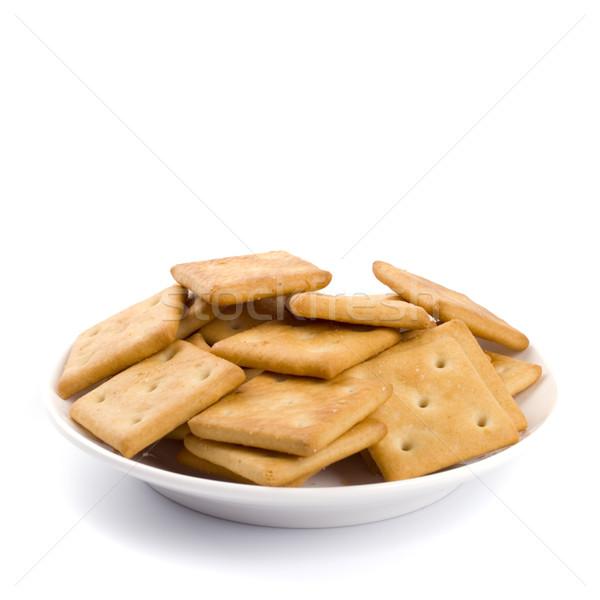 Cookies placa aislado fondos blancos alimentos fondo Foto stock © marylooo