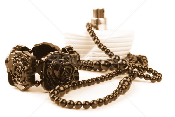 necklace, bracelet and parfume bottle Stock photo © marylooo