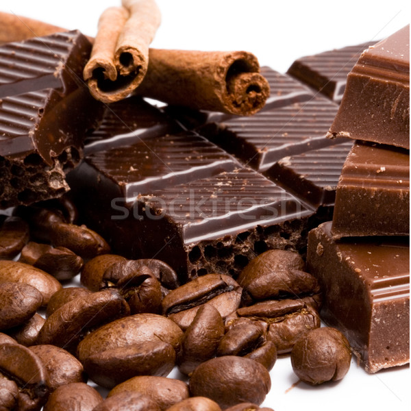 Foto d'archivio: Cioccolato · caffè · cannella · alimentare · candy