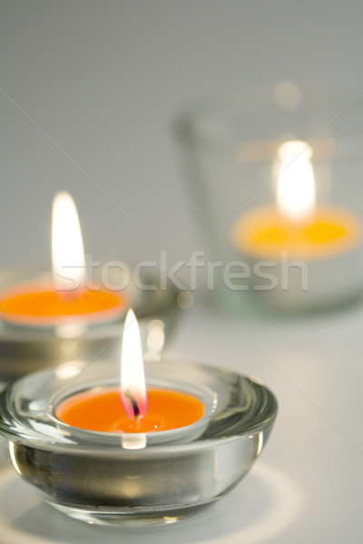 three candles flaming Stock photo © marylooo