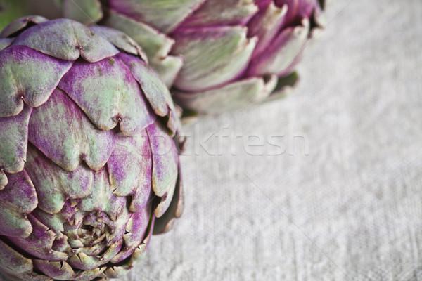 two fresh artichokes  Stock photo © marylooo