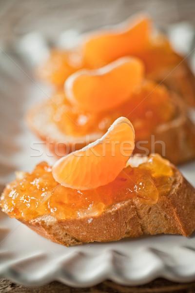 частей багет оранжевый белый пластина Сток-фото © marylooo