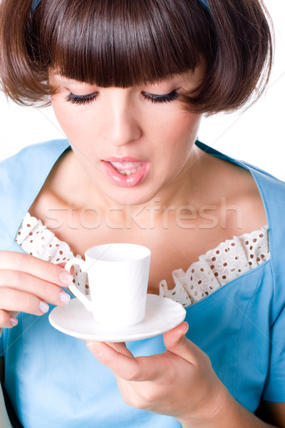 woman with cup of coffee  Stock photo © marylooo