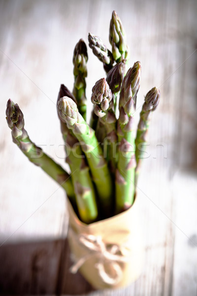 Vers asperges houten tafel voedsel hout Stockfoto © marylooo