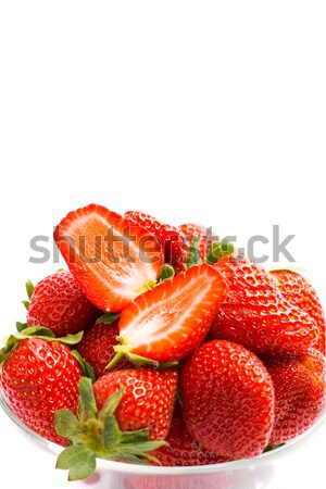 Fraises bol blanche nature fruits Photo stock © marylooo