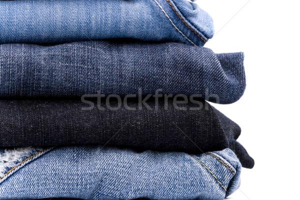 Blanche bleu tissu Photo stock © marylooo