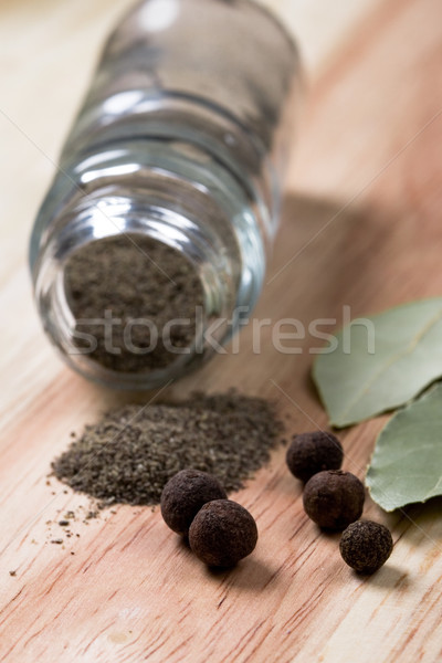 pepper and bay leaves Stock photo © marylooo