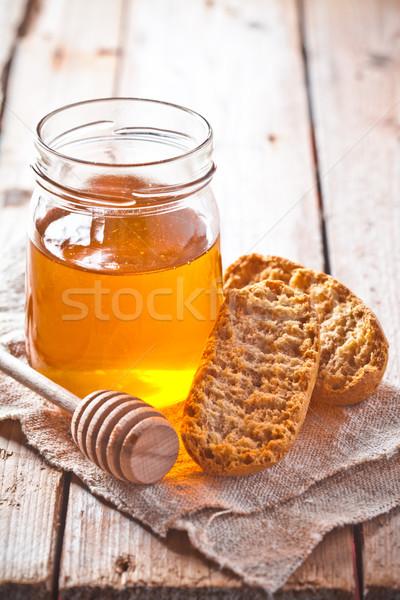 crackers and honey  Stock photo © marylooo