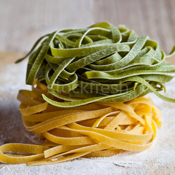 italian pasta tagliatelle Stock photo © marylooo