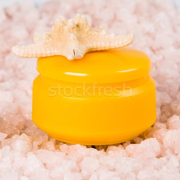 facial creme and seastar Stock photo © marylooo