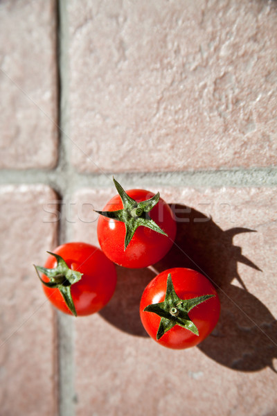 three cherry tomatoes  Stock photo © marylooo