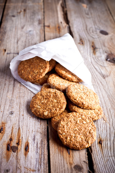 fresh crispy oat cookies Stock photo © marylooo