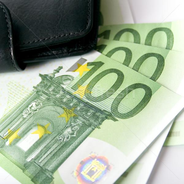 euro and a leather purse Stock photo © marylooo