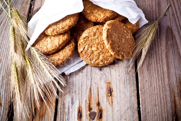 Fresche croccante cereali cookies orecchie rustico Foto d'archivio © marylooo