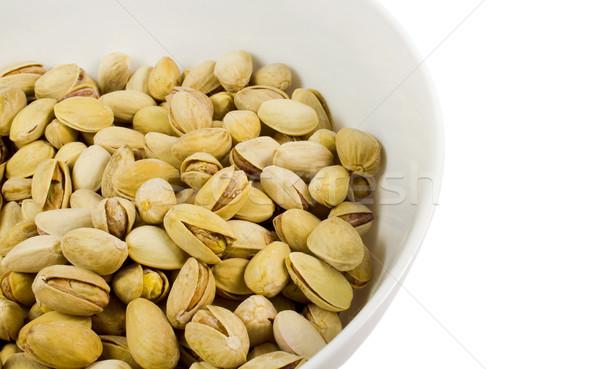 Bol blanche alimentaire semences écrou Photo stock © marylooo