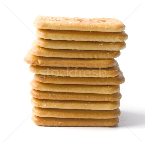 Cookies aislado fondos blancos comer amarillo Foto stock © marylooo
