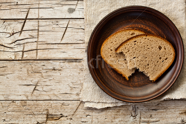 rye bread in a plate Stock photo © marylooo