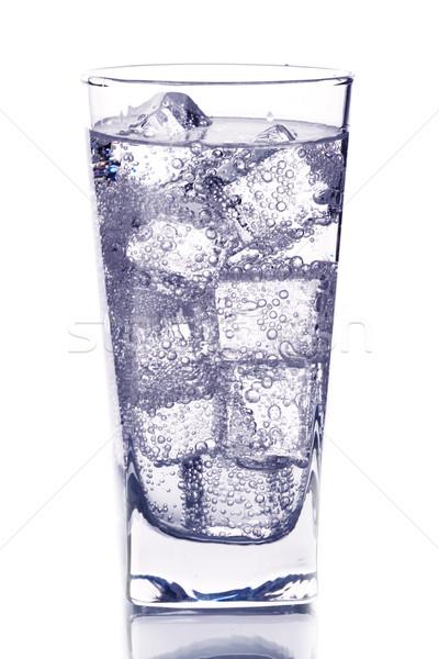 Vidrio hielo agua fondo beber color Foto stock © marylooo