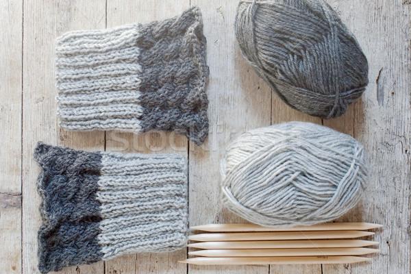 шерсти серый хвоя пряжи Сток-фото © marylooo