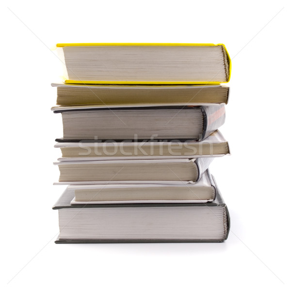 Kitaplar yalıtılmış beyaz kâğıt arka plan Stok fotoğraf © marylooo