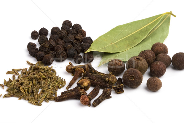 bay leafs, cloves, caraway and black pepper Stock photo © marylooo