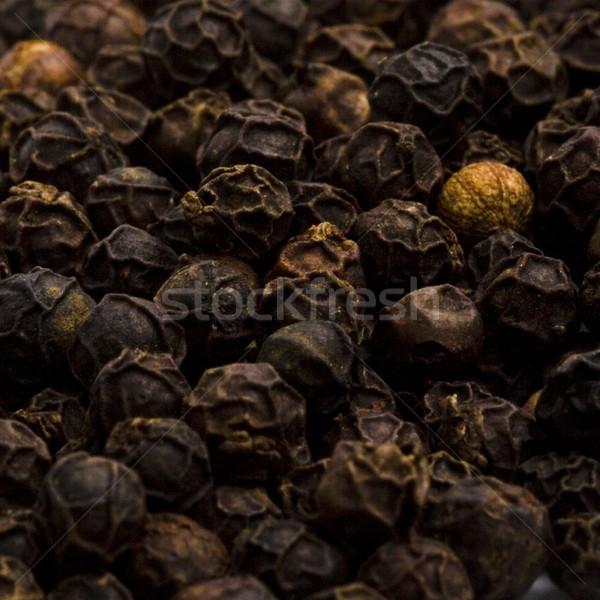 Feketebors textúra golyók közelkép háttér fekete Stock fotó © marylooo