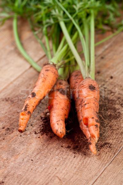 свежие морковь древесины лист Сток-фото © marylooo