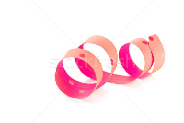 pink ribbon serpentine Stock photo © marylooo