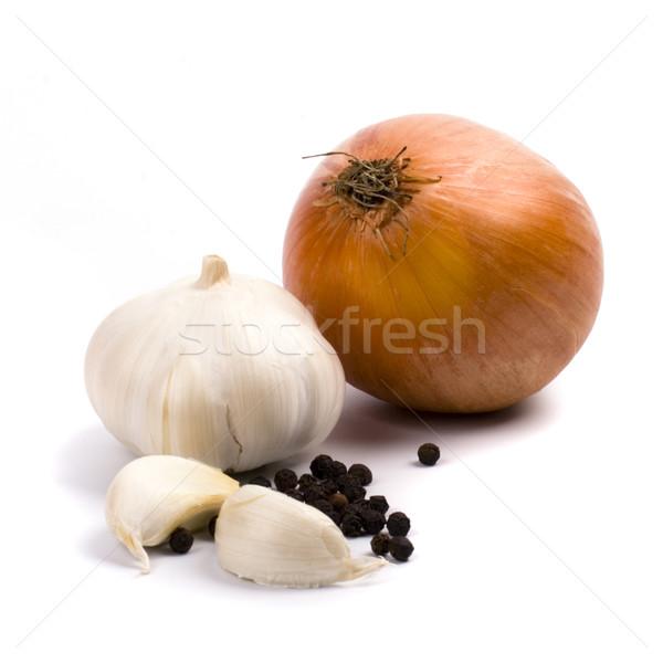 onion and garlic Stock photo © marylooo