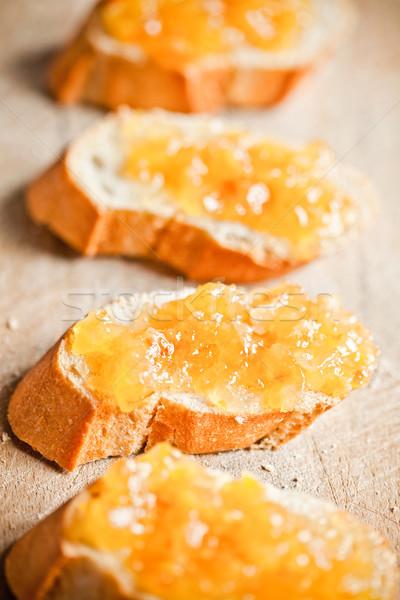 частей багет оранжевый древесины Сток-фото © marylooo