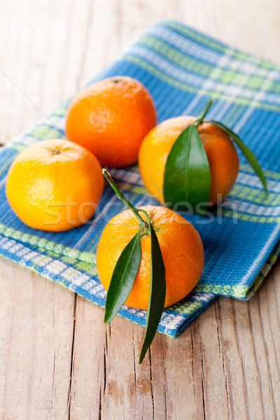 tangerines with leaves  Stock photo © marylooo