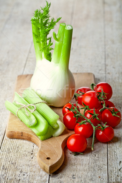 fresh organic fennel, celery and tomatoes Stock photo © marylooo