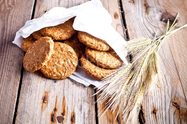 新鮮な ぱりぱり 燕麦 クッキー 耳 素朴な ストックフォト © marylooo