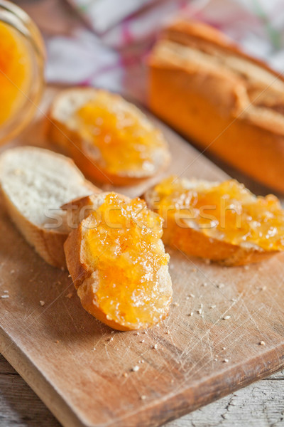 Сток-фото: свежие · хлеб · оранжевый · Jam · доска