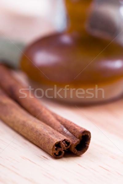 two cinnamon sticks Stock photo © marylooo
