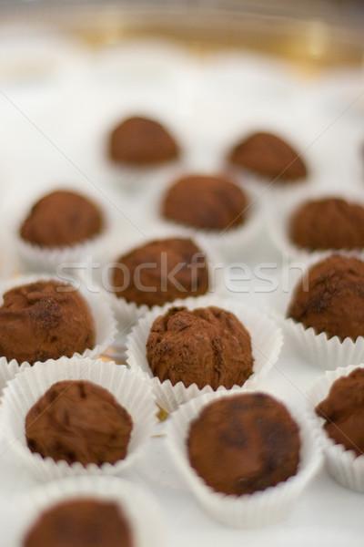 chocolate truffle Stock photo © marylooo
