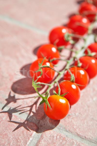 Pomodorini pietra alimentare salute tavola verde Foto d'archivio © marylooo