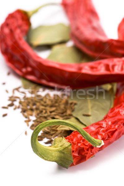 pimento, caraway and bay leaves Stock photo © marylooo