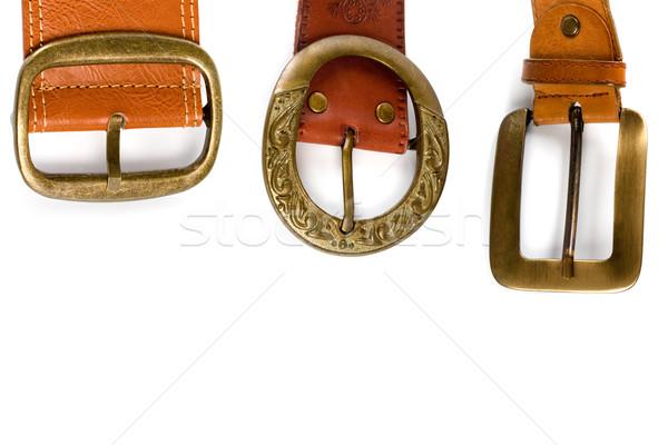 three brown leather belts Stock photo © marylooo